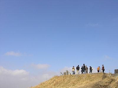 大観峰先端の展望台