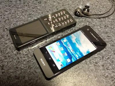 D705iμとXperia SX