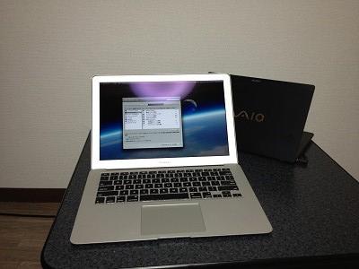 Macbook AirとVAIO X